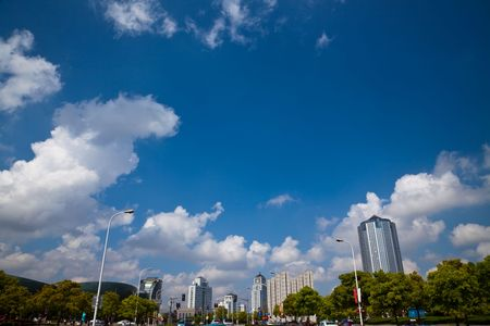 highroad: the scene of the century squre pudong shanghai china.