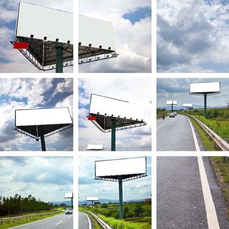 the concept of the billboard outdoor. photo