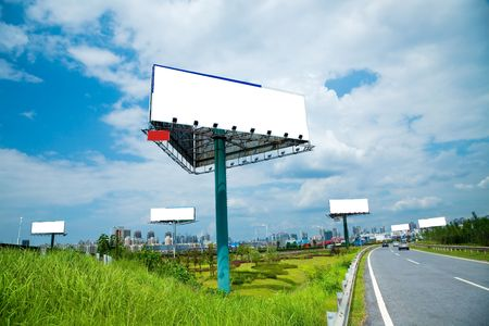 the billboard ande road outdoor. photo