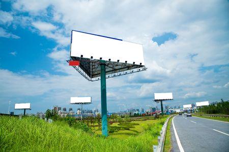 the billboard ande road outdoor. photo