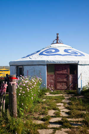 Yurt - Nomads tent is the national dwelling of Inner Mongolia . photo