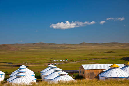 nomads: Yurt - Nomads tent is the national dwelling of Inner Mongolia .