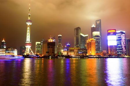 Oriental Pearl Tower, Shanghai chian. Stock Photo
