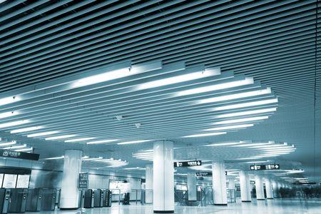 interior of the airport shanghai china.
