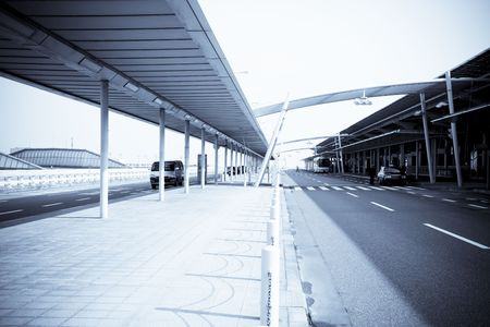 highroad: the road of the airport in japan.