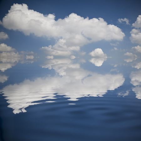 the background of the cloud and its reflection image in the water. Stock Photo - 6009954