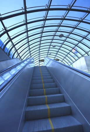 the escalator  of the subway station in shanghai china. photo
