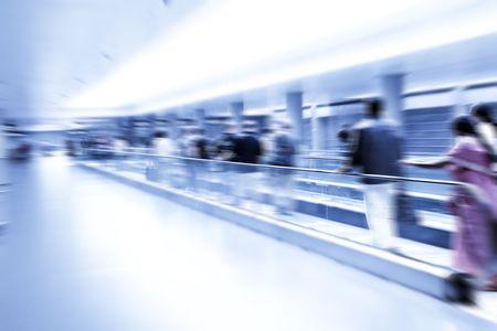 rushing: Rushing people Stock Photo