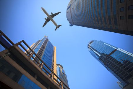 Das moderne Gebäude des Finanzplatzes Lujiazui in shanghai China.