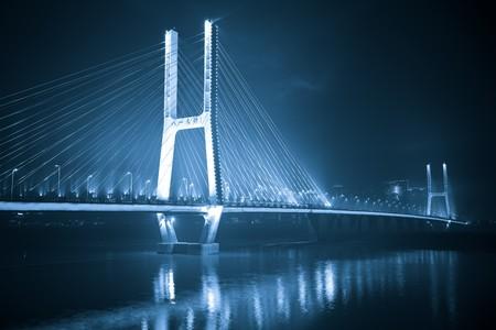 the night view of the bridge nanchang jiangxi china. Stock Photo - 6999684