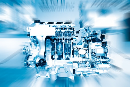 Auto-Motor Standard-Bild