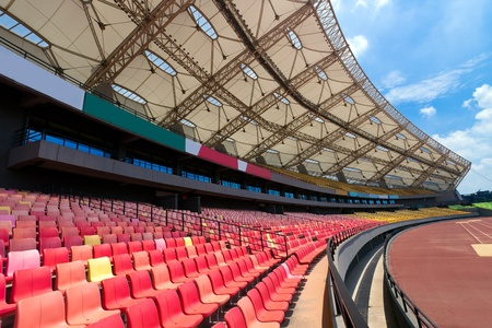 A field of empty seats in a open stadium in china outdoor. Stock Photo - 8344745