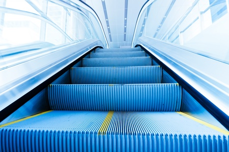 the escalator  of the subway station in shanghai china. Stock Photo - 8344843
