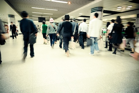 the crowd of a subway station. Stock Photo - 15059150