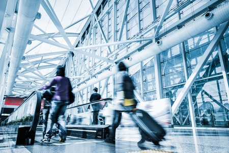Futuristic guangzhou Airport interior