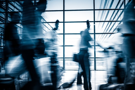Futuristic  Airport interior