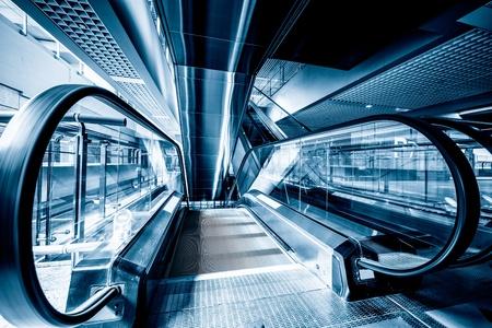 futuristic elevator in the modern building at shanghai china. Zdjęcie Seryjne