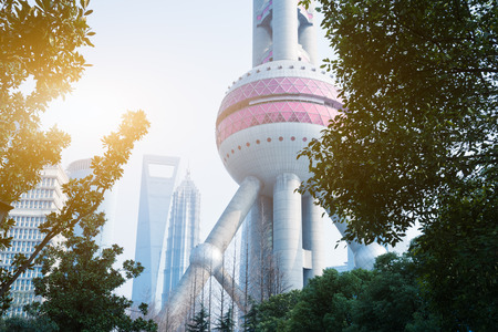 oriental pearl tower: part of Oriental Pearl Tower