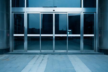 building glass entrance