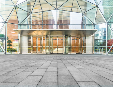entrada del edificio corporativo