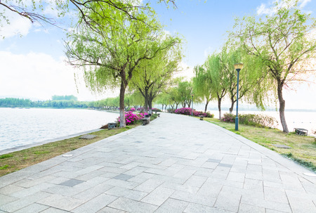 flagstone: flagstone road in park