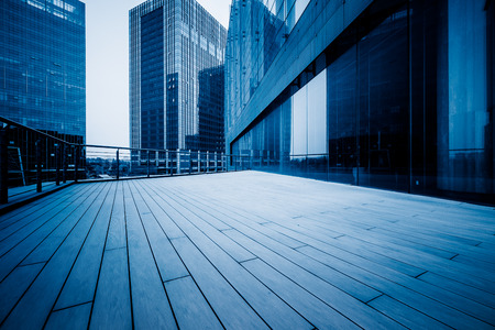 blue  toned: view shot of modern building,blue toned.