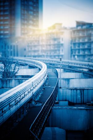 monorail: monorail track,chongqing Stock Photo