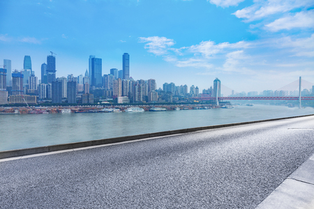 yangtze: chongqing cityscape,yangtze river bridge Stock Photo