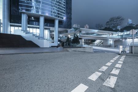 overbridge: urban road at night,hongkong china.