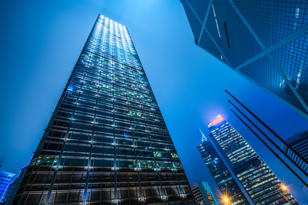 angle: low angle view of skyscraper