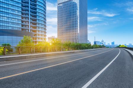clean road of city,tianjin china,rapid traffic Standard-Bild