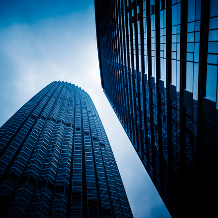 low angle view: low angle view of skyscrapers,tianjin china. Editorial