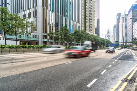 overbridge: urban traffic,motion blurred