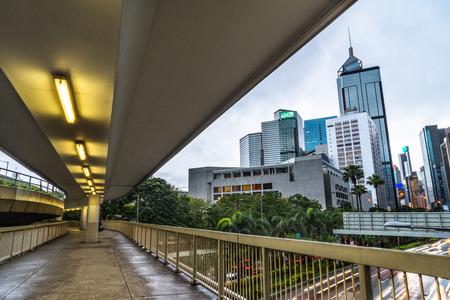 downtown district: downtown district,hongkong china. Stock Photo