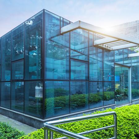 building glass: modern glass building,chongqing china Editorial