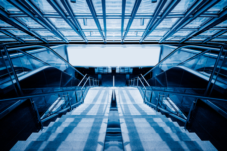 blue  toned: stairs in office building,blue toned image,spiritual concept. Editorial