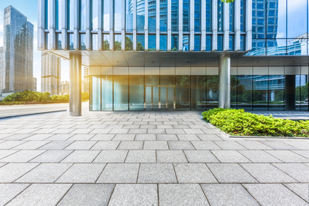 blue  toned: modern building entrance,blue toned image.