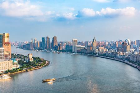 urban sprawl: Spectacular views of the Bund,shanghai,china.