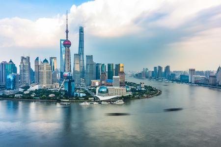 Une vue spectaculaire sur le Bund, Shanghai, Chine.
