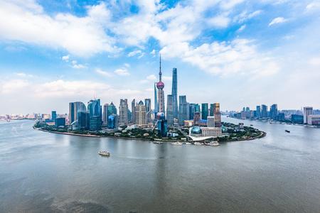 Een spectaculair uitzicht op de Bund, Shanghai, China.