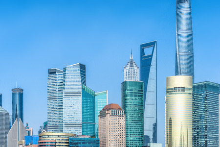 corporate buildings: financial district in shanghai,china.