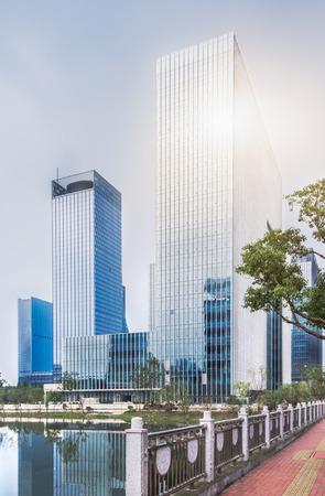 downtown district: downtown district of guangzhou,china