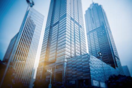 distrito financiero de Shanghai, China.
