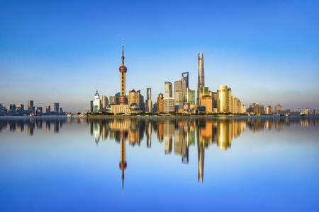 sprawl: Spectacular views of the Bund,shanghai,china.