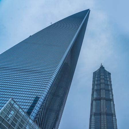 mao: financial district in shanghai, shanghai world financial center,jin mao tower,china.