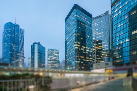 mdoern Wolkenkratzern im zentralen Bezirk von Hong Kong, China.