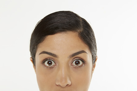widening: Upper portion of a womans face