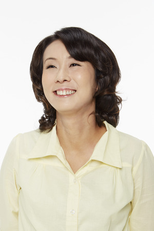 Portrait of a cheerful woman 写真素材