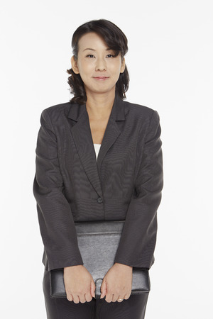 Businesswoman holding a folder photo