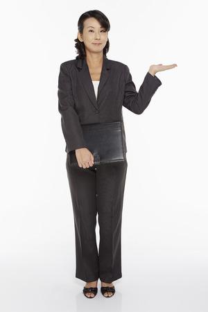 Businesswoman holding a folder photo
